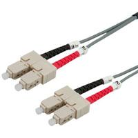 VALUE LWL-Kabel 50/125µm SC/SC, OM2, grau, 3,0 m