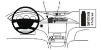 Brodit Fahrzeughalter ProClip für Renault Laguna 05-07