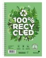 Silvine Premium Notebook Recycled Wirebound Ruled 120pp 80gsm A5 Ref R103 [Pack 5]