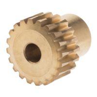 Schneckenradgetriebe, Bronze, 20 Zähne, 16.03mm Ø, 17.6mm Naben-Ø, 18mm Spur