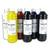 ART PLUS Coffret de 6 flacons de 500ml de peinture déco vitre, Blanc, Jaune, Rouge, Violet, Bleu, Vert