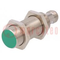 Senzor: indukčný; Konf.výstupu: PNP / NO; 0÷8mm; 10÷30VDC; M18