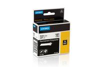 Kassette für Beschriftungsgerät Rhino Band ID1 Polyester, lam., 5,5m x 24mm, s/m Bild1