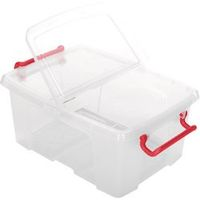 Office Depot Opbergdoos Transparant plastic 29,5 x 40 x 17 cm