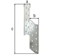Sparren-Pfettenanker, links, sendzimirverzinkt, BxTxH 32x32x250 mm