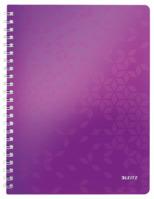 Collegeblock WOW, A4, PP, liniert, holzfrei, 80 Blatt, violett