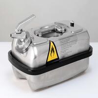 Sicherheitsbehälter Dosierkanister aus Edelstahl für brennbare Flüssigkeiten, 5 Liter, 240x430x170mm