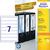 Ordner-Etiketten für schmale Ordner, kurz, weiss, 192x38mm, 700 Etiketten