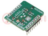 Click board; vochtigheids-/temperatuursensor; I2C; HDC2010
