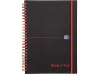 OXFORD BLACK N' RED - NOTEBOOK - A5 - 140 SHEETS - RULED - P