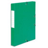 5 ETOILES Bo�te de classement � �lastique en carte lustr�e 7/10, 600g. Dos 40mm. Coloris vert.