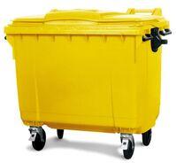 Großmüllbehälter aus Polyethylen (PE), 1100 Liter Volumen, gelb, Artikelbild