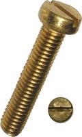 Zylinderschraube Schlitz, Messing 3100/000/02 6x12