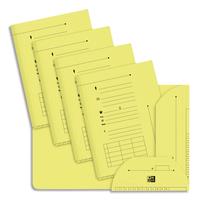 ELBA Paquet de 25 sous-dossiers 2 rabats kraft 240gr coloris jaune