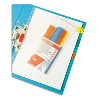 ESSELTE Sachet de 5 cavaliers auto-adhésifs coloris transparent, en PVC