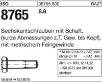 ISO8765 M12x1,5x70