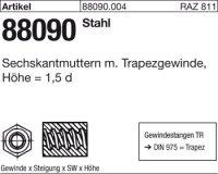 Sechskantmuttern TR16x4-SW27x24