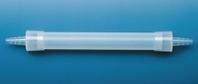 Trockenrohr 100 mm, PE-HD mit 2 Druckstopfen und konischen Oliven für Schläuche mit i.D. 8-10 mm