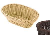 SALEEN Tischkorb oval, ca. 23,5x16x6,5 cm, braun Die Marke saleen® der Firma