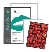 5 Star Facilities Snap Photo Frame with Non-glass Polystyrene Front Back-loading A4 297x210mm Silver