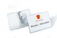 Durable Name Badge with Crocodile Clip 55x90mm (Pack 25) 8111