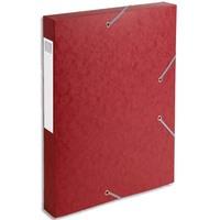 EXACOMPTA Boîte de classement dos 4 cm, en carte lustrée 7/10e coloris rouge