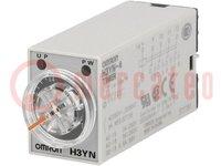 Časové relé; 0,1s÷10min; 4PDT; 250VAC/3A; 24VDC; pätica; -10÷50°C