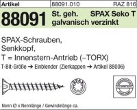 Reyher 880910100060080 ABC-SPAX-S-Screw 6x80/60-T30
