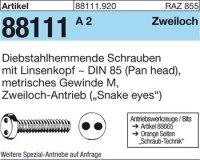 Diebstahlhemmende Schrauben M4x12
