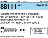 Diebstahlhemmende Schrauben M3x12