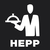 Logo zu HEPP Dressinglöffel 18/10 Edelstahl, Länge: 280 mm, ø: 60 mm