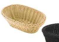 Saleen Tischkorb oval 23,5 x 16 x 6,5cm Farbe: schwarz