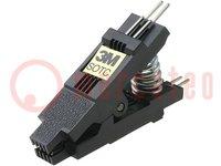 Testclips; SOIC; PIN:8; Contactr:1,27mm; Rijafstand:3,81mm