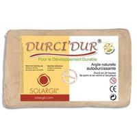 Argile naturelle autodurcissante DURCI'DUR / Pain de 1 kg rouge
