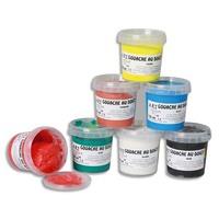 ART PLUS Boîte de 6 x 125ml de gouache au doigt couleurs vives