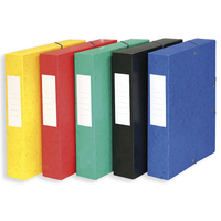 5 ETOILES Boîte de classement à élastique en carte lustrée 7/10, 600g. Dos 60mm. Coloris assortis.
