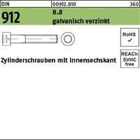 DIN 912 8.8 M 8 x 16 galv. verzinkt gal Zn S
