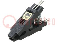 Pinza de prueba; SOIC; PIN:8; R.de contactores:1,27mm