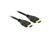 Anschlusskabel, High Speed HDMI mit Ethernet, A Stecker an A Stecker, 4K, schwarz, 2m, Delock® [84714]