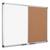 BI-OFFICE Tableau combiné Maya, moitié Liège et laqué Blanc magnétique - Format : L120 x H90 cm
