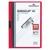 DURABLE Chemise de présentation Duraclip 30 à clip, couverture transparente - 1-30 feuilles A4 - Rouge