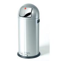 Szemetesvödör pedálos KickMaxx XL, Nemesfém, 36l, 350x860mm, ezüst
