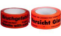 "smartboxpro Signalklebeband ""Vorsicht Glas!"", rot, aus PP (71600027)"