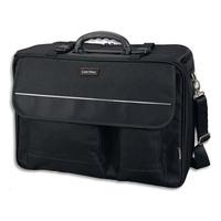 LIGHTPAK Pilot Case noir en nylon polyester compartiments + poches L46 x H34 x P20 cm