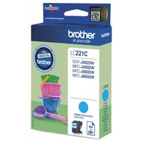 BROTHER Cartouche Jet d'encre Cyan LC221C