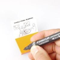 stattys Folien-Haftnotizen PP XS orange 5x3,7cm 95 Blatt