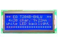 Kijelző: LCD; alfanumerikus; STN Negative; 20x4; kék; LED; 146x62mm
