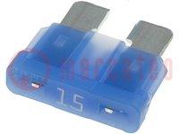 Zekering: smeltveiligheid; autozekering; 15A; 32V; 19mm; ATO