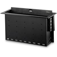 StarTech.com BOX4MODULE kabelbeheersysteem Bureau Kabeldoos Zwart 1 stuk(s)