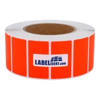 1000 Papieretiketten 100 x 50 mm permanent leuchtrot 40 mm Kern Rolle